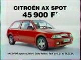 Publicité Citroën AX Spot 1994