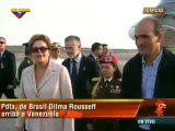Presidentas de Argentina Cristina Fernández y Brasil Dilma Rousseff arriban a Venezuela