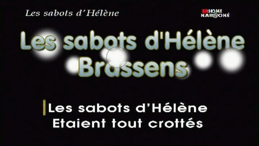 Karaoke - Les sabots d'Hélène de Brassens