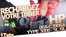 Comment bien recharger des cartouches HP Laserjet 06A - C3906A