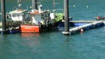 Ambiente en el puerto de Candás, Asturias 20 de abril
