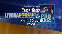 Extraits Massy Essonne / Grand Nancy - ProD2 Handball