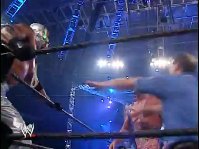 Kurt Angle and Chris Benoit vs Rey Mysterio and Edge (No Mercy 2002, Tag team match to crown the first WWE Tag Team Champions)