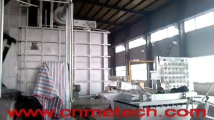 stationary reverberatory square aluminum melting furnace