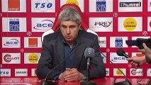 Conférence de presse Stade de Reims - Valenciennes FC : Hubert FOURNIER (SdR) - Daniel  SANCHEZ (VAFC) - saison 2012/2013