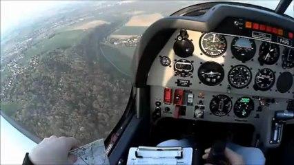 Lunettes CamSport - Vol en avion DR 400 de Lognes à Coulommiers