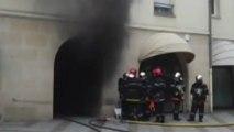 Incendie en plein centre-ville de Compiègne