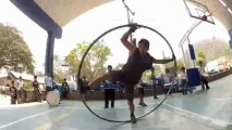 Circusman Alexis wheel cyr, Roue cyr