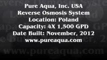 Pure Aqua| Commercial Brackish Reverse Osmosis Systems Poland 4 x 1,500 GPD