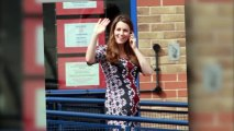 Duchess of Cambridge Kate Middleton Shows Baby Bump