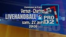 VERNON SMV / CHARTRES Metropole 28 - Handball ProD2