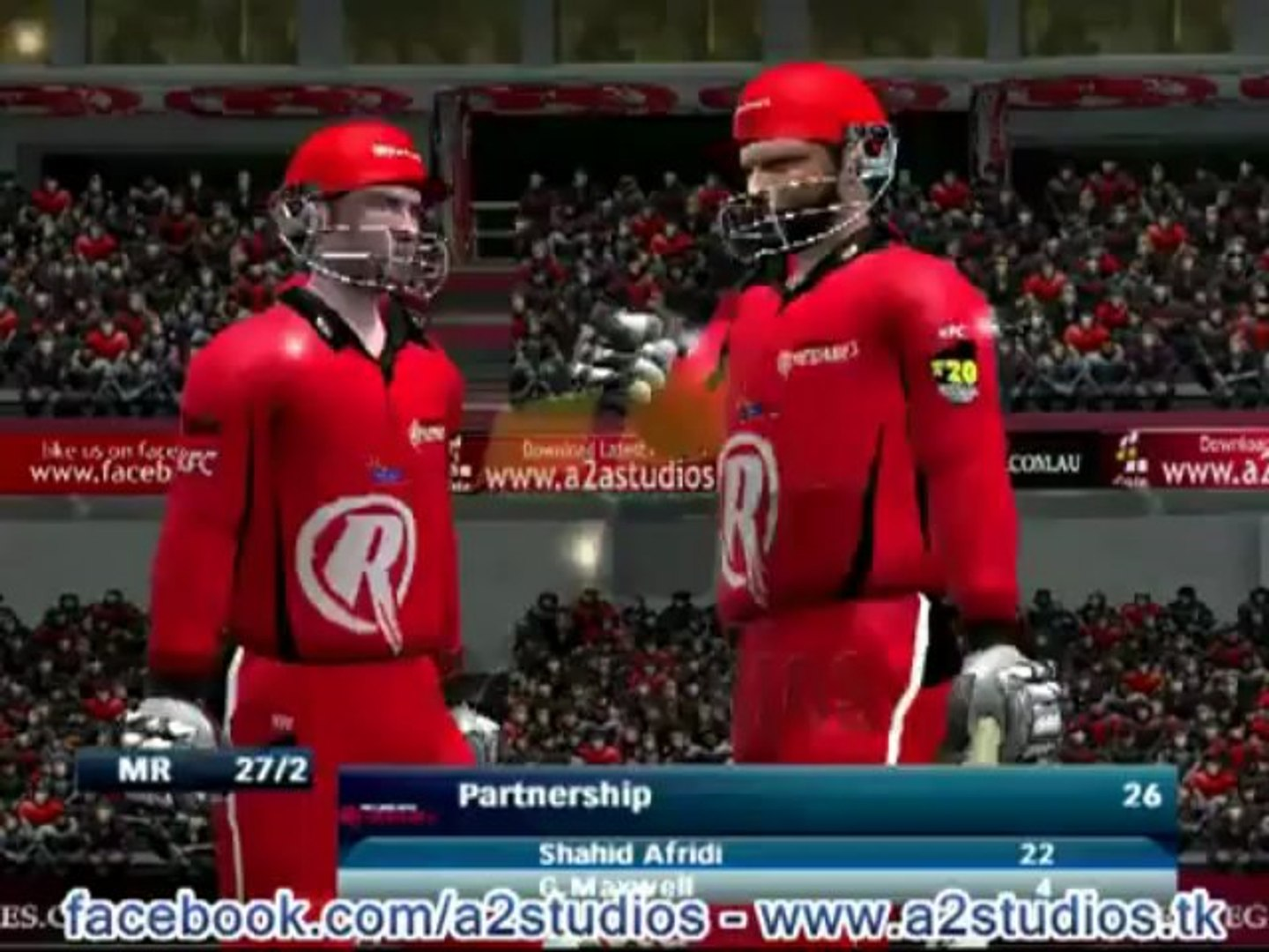 EA Sports Cricket 2013 Big Bash League Patch by A2 Studios BBL Patch for Cricket 07 www.a2studios.tk