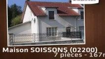 A vendre - maison - SOISSONS (02200) - 7 pièces - 167m²