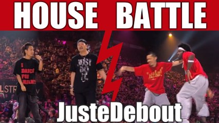 House dance battle : Hyrossi & Shuho (Japan) vs Cebo & Hideki (Canada)