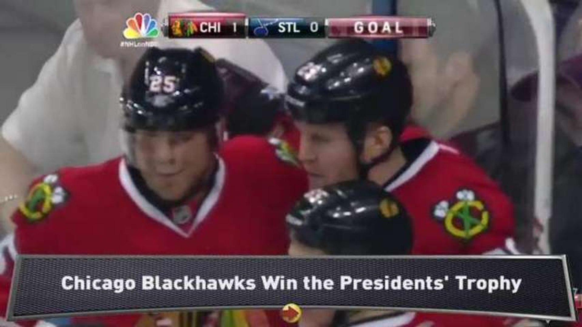 Blackhawks Capture Presidents' Trophy