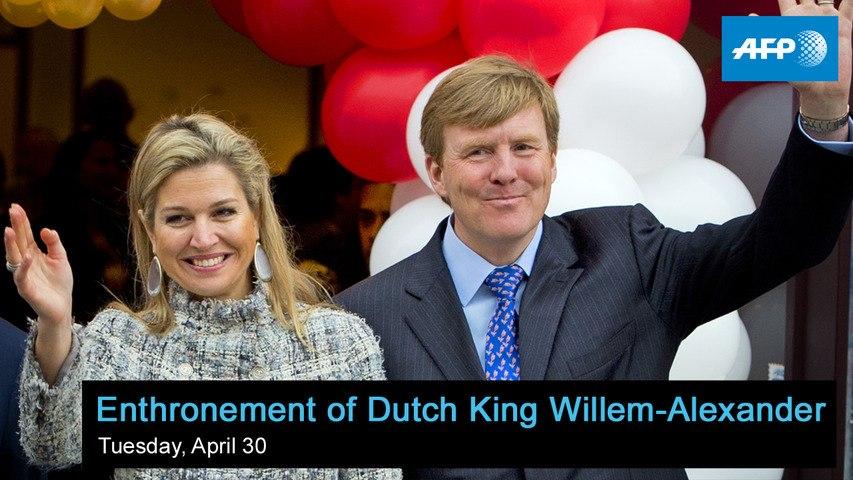 Enthronement of Dutch King Willem-Alexander - starts at 12:00 GMT