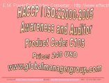 ISO 22000 & HACCP Food Safety Management System Auditor Training