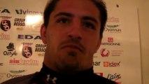 Rugby Pro D2 - Jonathan Bousquet réagit après la remise du bouclier de champion de France