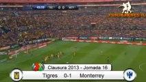 Tigres 0-1 Monterrey Jornada 16, Liga MX Clausura 2013