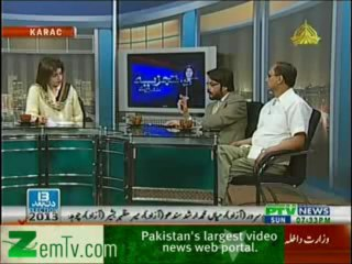 Tajzia Huma Baqai k Sath on PTV News – 28th April 2013