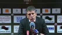 Conférence de presse OGC Nice - ESTAC Troyes : Claude  PUEL (OGCN) - Jean-Marc FURLAN (ESTAC) - saison 2012/2013