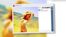 Bar Refaeli Shows Off Her Toned Body in a Frilly Bikini