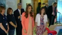 Kate spends second wedding anniversary with sick children
