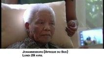 Nelson Mandela apparaît à la télévision très affaibli