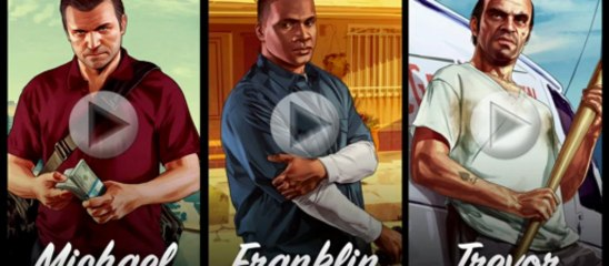 Michael. Franklin. Trevor. Trailers de Grand Theft Auto V
