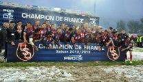 Oyonnax : Remise du Bouclier au Champion de France de PRO D2 2013