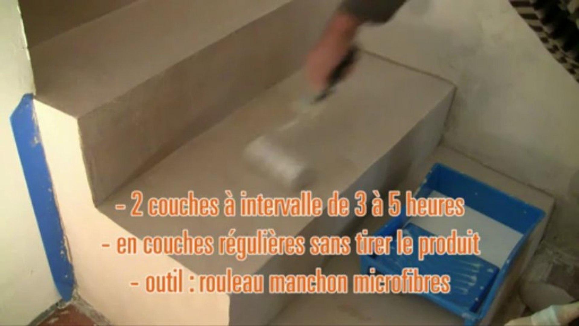 Fabricant Beton Cire France béton cire application escaliers