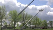 Putting Up Stadium Lights | CR Holland Crane Service