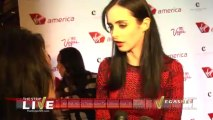 Krysten Ritter & Sir Richard Branson Celebrate Virgin America in Las Vegas