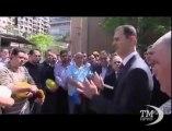 Siria: Assad appare in pubblico per la Festa del lavoro. Visita a una centrale elettrica a Damasco