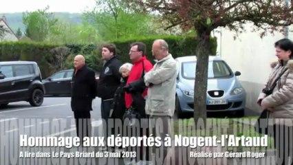 Cérémonie des déportés 2013 Nogent-l'Artaud