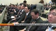 Accord de coopération en les Emirats et le Japon