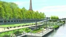 Visite du Maire de Paris sur les Berges de Seine