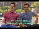 Interview Violetta saison 2 avec Leon et Andres