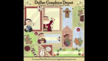 Scrapbooking - Scrap Elements from DollarGraphicsDepot