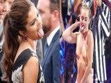 Selena Mocks Miley With Tongue Act