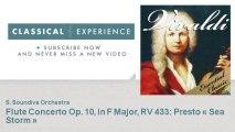 Antonio Vivaldi : Flute Concerto Op. 10, in F Major, RV 433: Presto « Sea Storm »