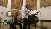 Stéphane Rougier, violon solo et Sophie Teboul au piano