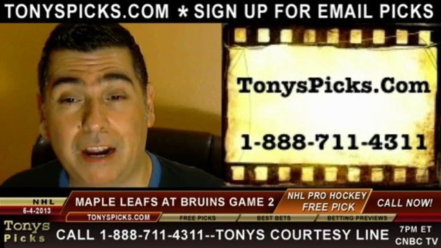 Boston Bruins versus Toronto Maple Leafs Pick Prediction NHL Playoff Game 2 BLines Odds Preview 5-4-2013