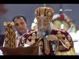 Le Peuple Copte acclame Cheikh El Azhar, et ignore Morsi, Pâques 2013