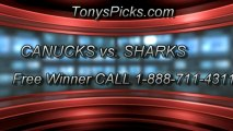 San Jose Sharks versus Vancouver Canucks Pick Prediction NHL Pro Playoff Game 3 Lines Odds Preview 5-5-2013