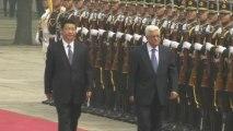 Abbas meets Xi