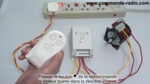 Kit Interrupteur sans fil/Commande Moteur Électrique 110V 220V Fonction Temporisation Adjustable 10~60s