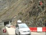 Eboulement sur la route reliant Les Menuires à Val Thorens
