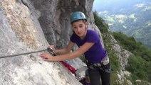 Vidéo de présentation de l'escalade de la via ferrata de La Roche Veyrand HD