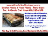Bolster Plates and Floor Plates For Sale 616-200-4308 Many Sizes